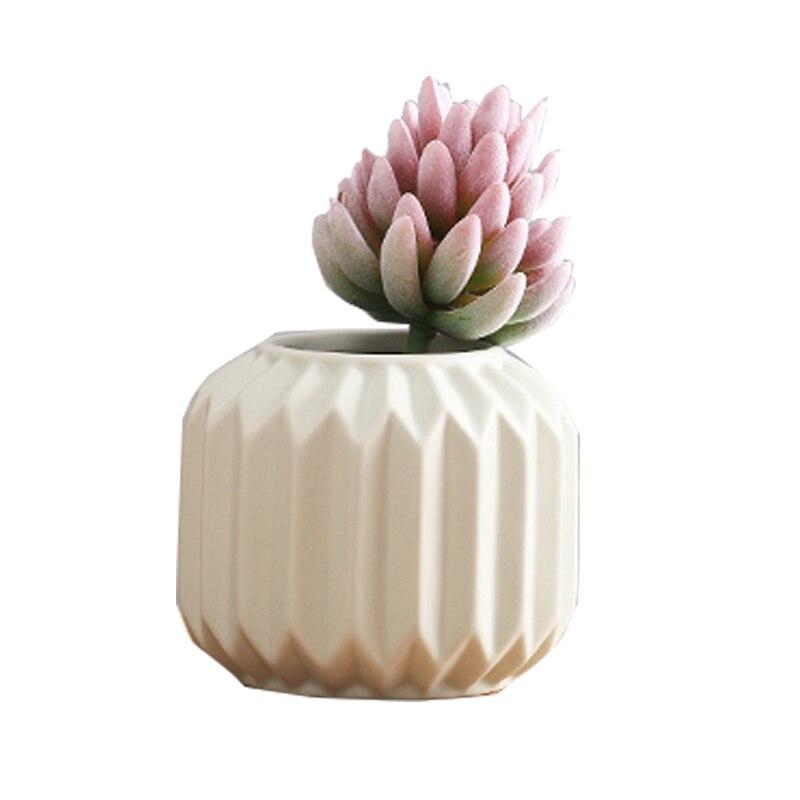 Silicone moule moderne minimaliste en céramique vase à fleurs créatif sec fleur pliant décoration de la maison ciment 3d vase moules
