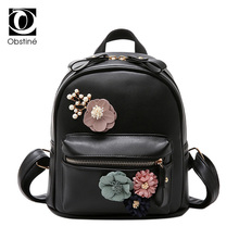 Flowers Backpack Women Black Sweet Backpacks for Teenage Girl Bagpack Female Rucksack for Teens Back Pack Bags Girls Backbag