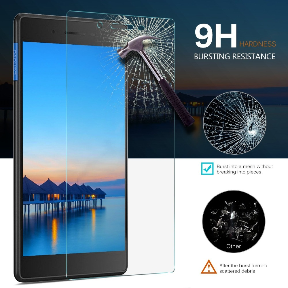 9H Screen Tempered Glass For 2017 Lenovo Tab 7 Essential TB-7304F Protector TB 7304F 7304 7304I 7304X 7.0 inch Tablet Film Guard new 9h glass tempered for huawei mediapad t5 10 tempered glass screen film for huawei mediapad t5 10 inch tablet screen film