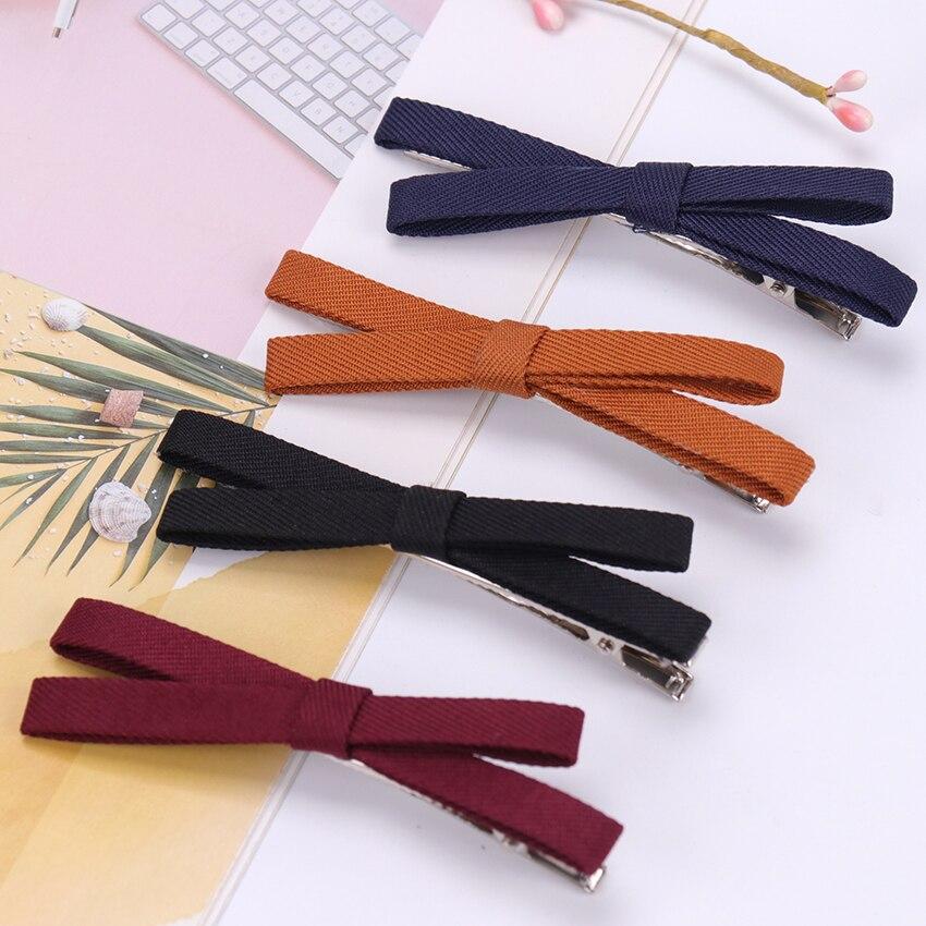 1PC Bowknot Hairpin Kids Girls Hair Bow Clips Barrette Hair Clip Vintage Bow Hairpins   Headwear   For Women Girls Korean Hair Clip