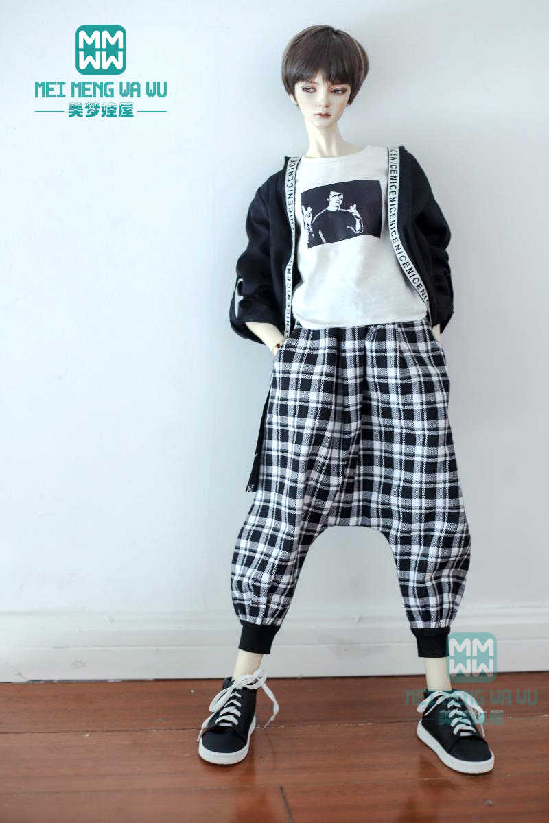 BJD аксессуары, кукольная одежда для 65-72 см, модные повседневные шаровары, футболки, брюки