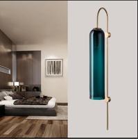Современный фойе прикроватная тумбочка для спальни коридор настенный светильник бра bean стеклянный шар настенный светильник светодиодный