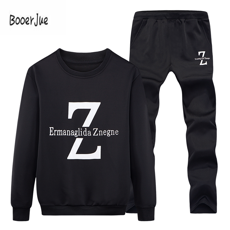 Tracksuits Men Winter Tracksuit Set Solid Sweat Suit Men Track Suits Set Coat+Pants Outw ...