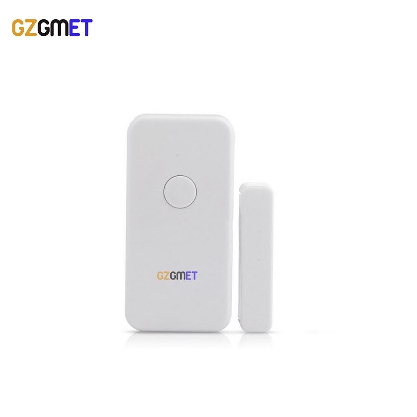 GZGMET Shiny White ABS Cover  433mhz Wireless Door Sensor Gsm Home Alarm System Parts gzgmet sensor alarm window door glass break detector durabe white wired home security system sensor