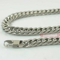 Chrismats Gift Free Shipping HIP HOP CHAIN 55cm Long 8mm Wide 316L Stainless Steel Necklace Chain