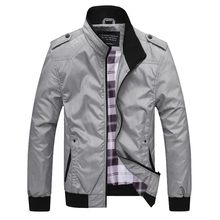 Spring Autumn Fashion Men Jacket Stand Collar Casual Outwear Simple Classical Jackets Leisure Campus Boyfriend Coats