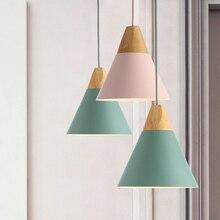 スロープランプペンダントライト木材とアルミレストランダイニングルームリビングルームの装飾led照明器具