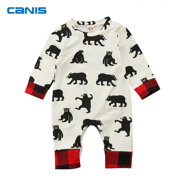 1281e5204555 CANIS Christmas Newborn Kids Baby Boy Children Clothes Rompers ...