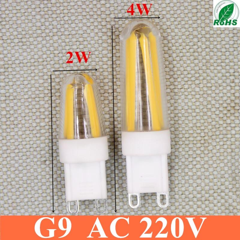 2018 High power LED lamp G9 corn Bulb 2W 4W AC 220V LED light 360 degrees Beam Angle spotlight lamps bulb Free shipping