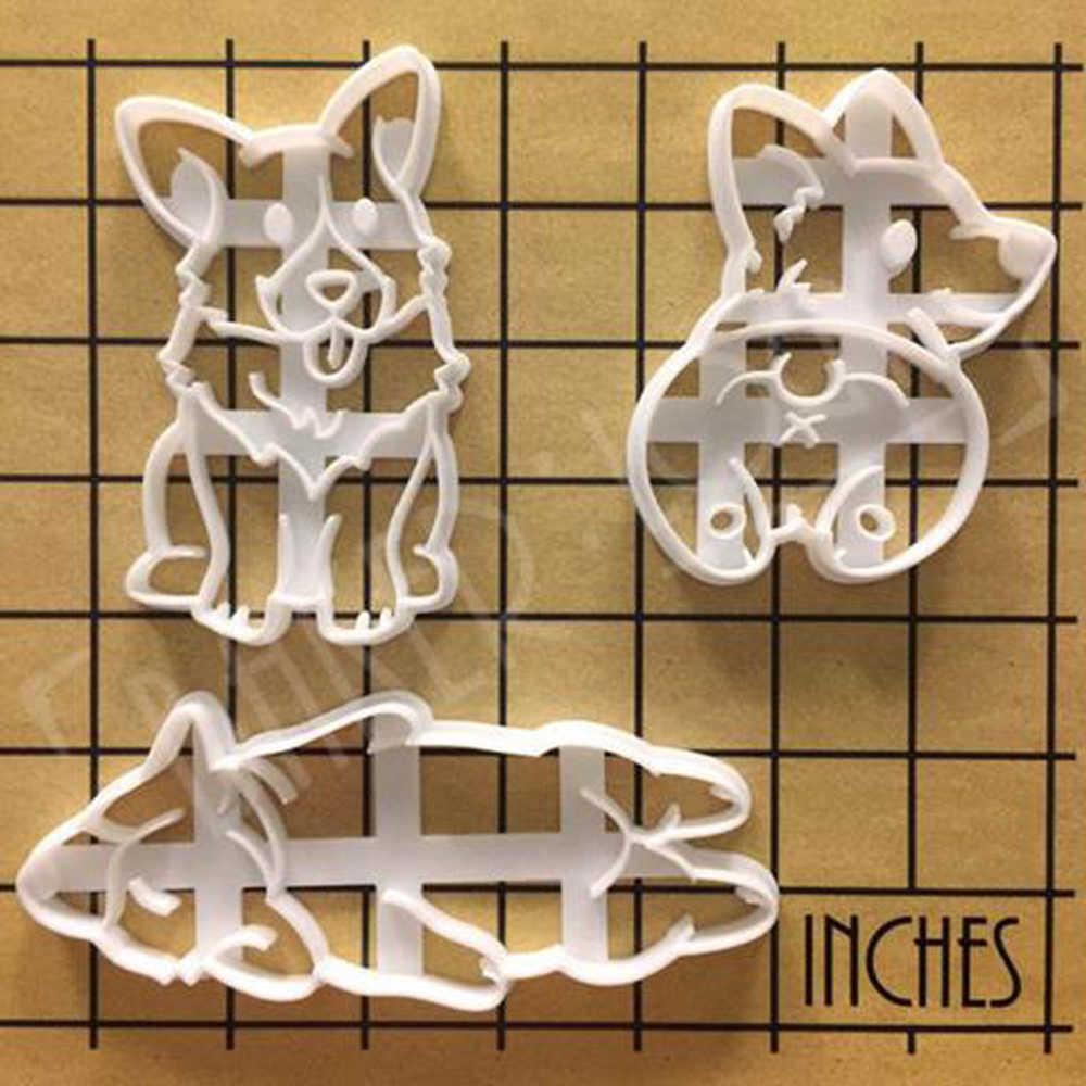 3 шт. собака корги Royal Pet Cookie Mold формы резак Бисквитное тесто Кондитерские Фондант выпечки инструменты вечерние Шоколад формы для выпечки