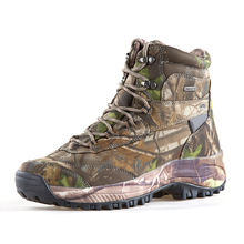 2019 Mossy-oak outdoor Womens waterproof shoes non-slip wear camouflage hiking Walking hunting boots for men