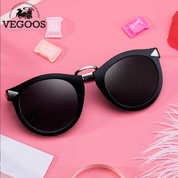 VEGOOS Vintage Fashion Round Arrow Style Polarized Sunglasses for Women Mirrored Lenses UV400 Protection Ladies Shades #6107 - DISCOUNT ITEM  55% OFF Apparel Accessories