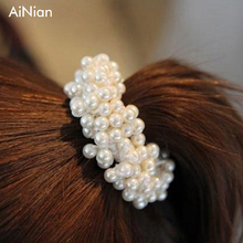 Hot Sale AiNian Tiara Wedding Accessories Bridal Pearl Hair Pins Crystal Hair Clips Bridesmaid U Pick Tiara Hair Jewelry