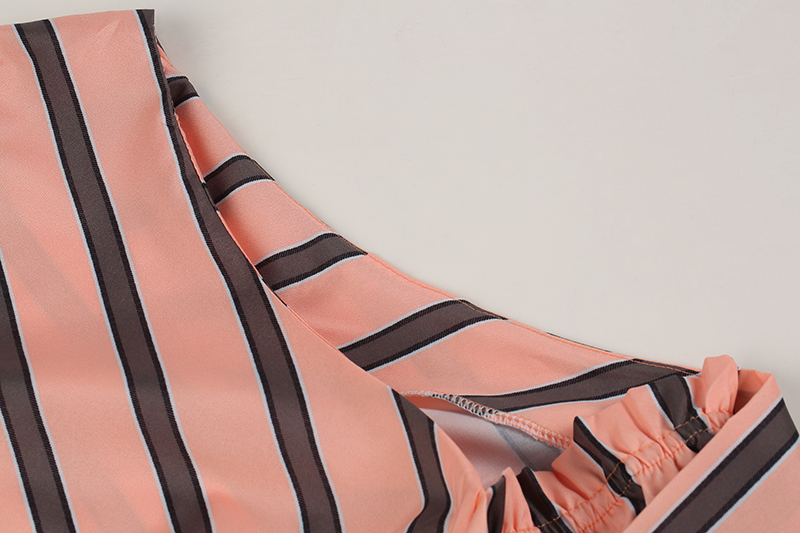 Striped Blouse One Shoulder Tops Sexy Long Sleeve Bow Shirts 18
