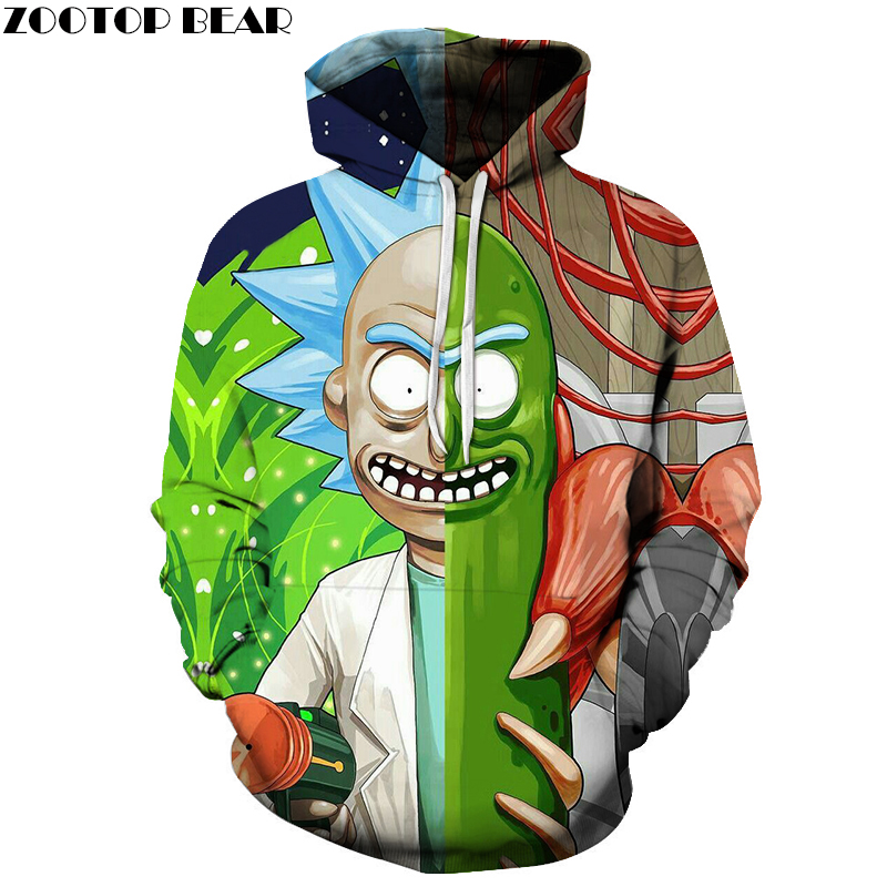 Rick and Morty Hoodies Sweatshirts 3D Hoodies Men Hoodie Fashion Tracksuits Male Streetwear Casual Pullover Autumn Boy Coats New