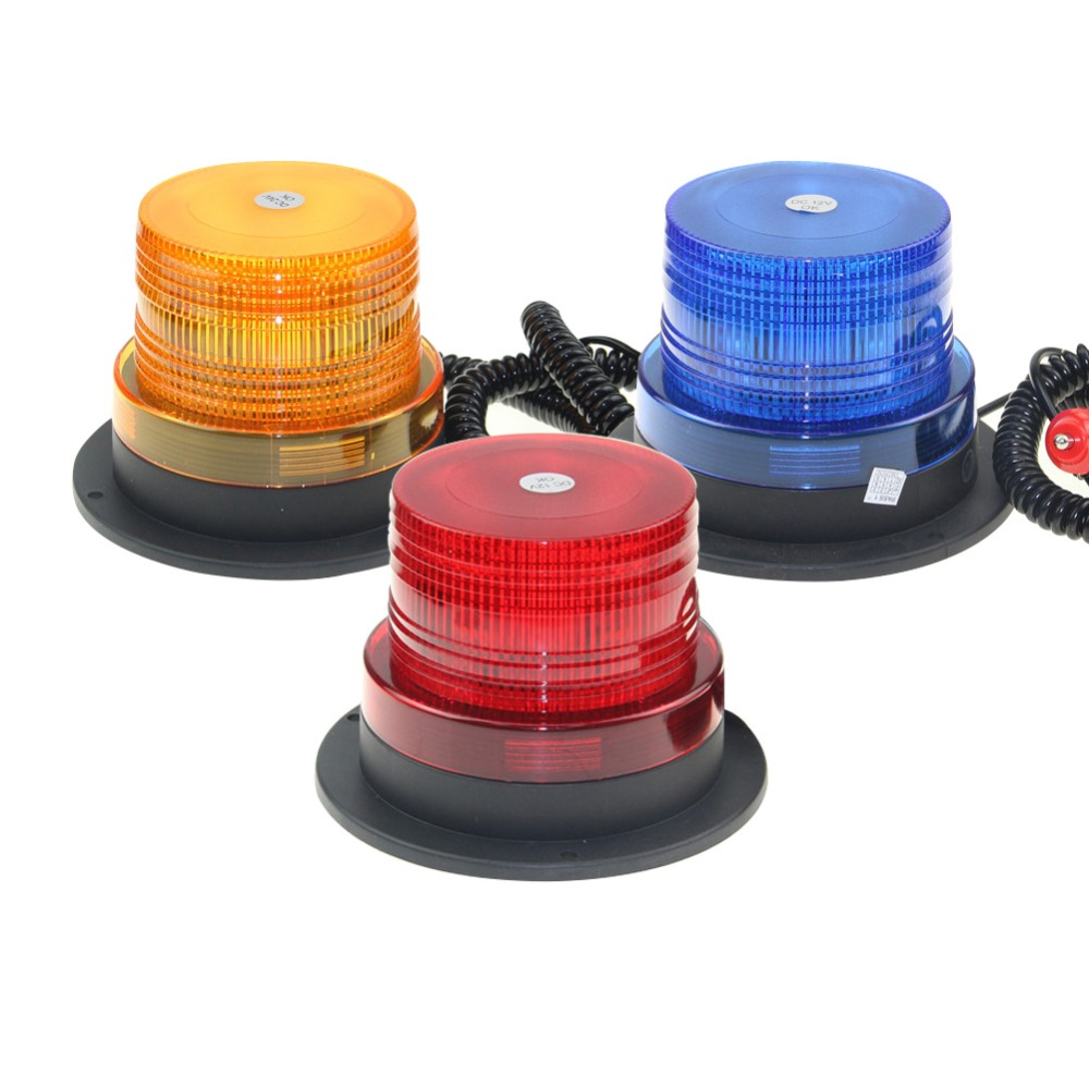 Red Yellow Blue LED Car roof Strobe Light Beacon Flashing Warning Light Police vehicle Truck Emergency signal Lamp 12V/24V titanium ring
