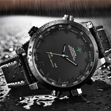 Marca de luxo norte casual esportes relógio de quartzo masculino couro analógico relógio digital eletrônico militar relógios homem relogio masculino