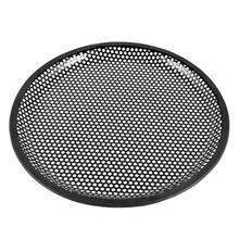 TOYL 10 Dia Metal Mesh Round Car Woofer Cover Speaker Grill Black 2 Pcs