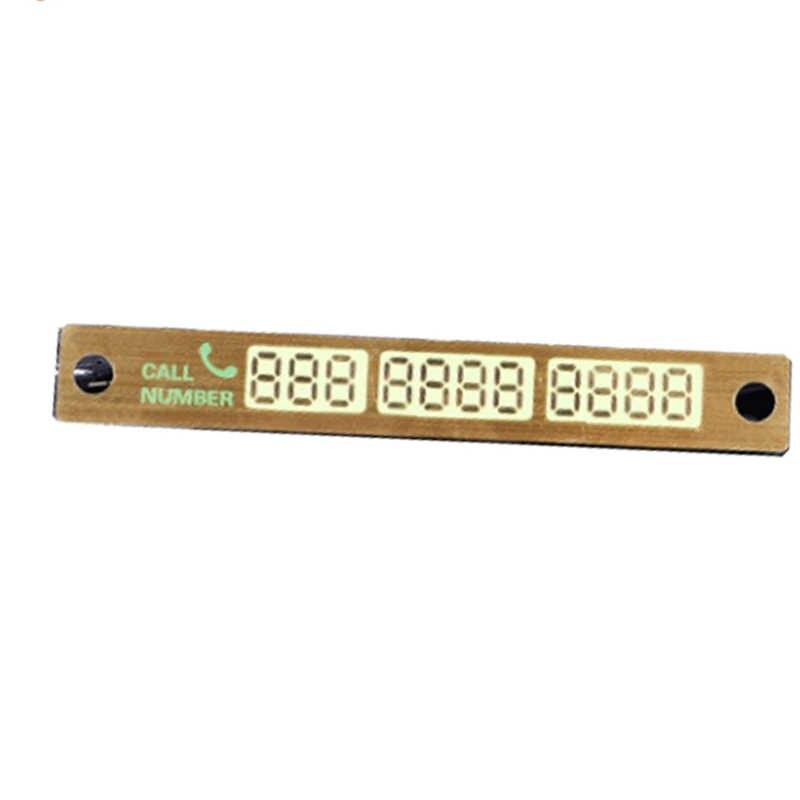 Lichtgevende Tijdelijke Parkeerkaart Sticker Plaat Sucker Night Telefoonnummer Kaart Voor Auto Stop Parking Teken Opmerking Nummer Auto Styling
