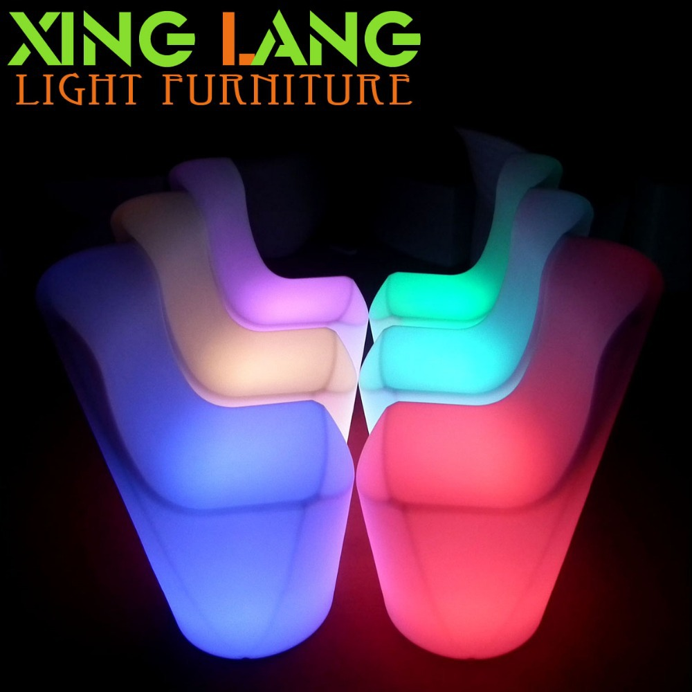 Cool Plastic Colorful Restaurant Led Lighted Chair