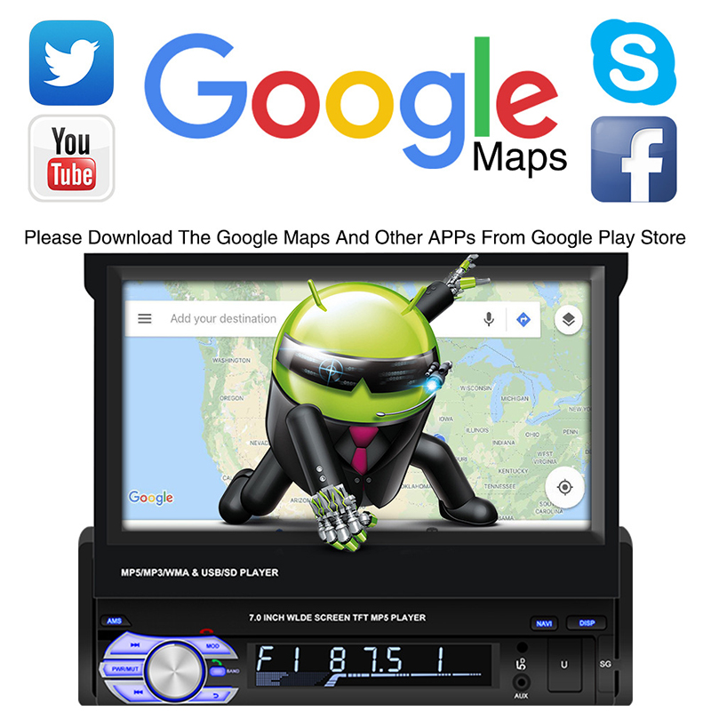 7 inch built in wifi GPS navigation