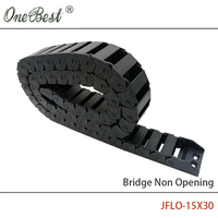 JFLO 15x30mm 1M 100cm 40 Drag Chain Wire Carrier Cable Bridge Non Opening Type Towline Protection