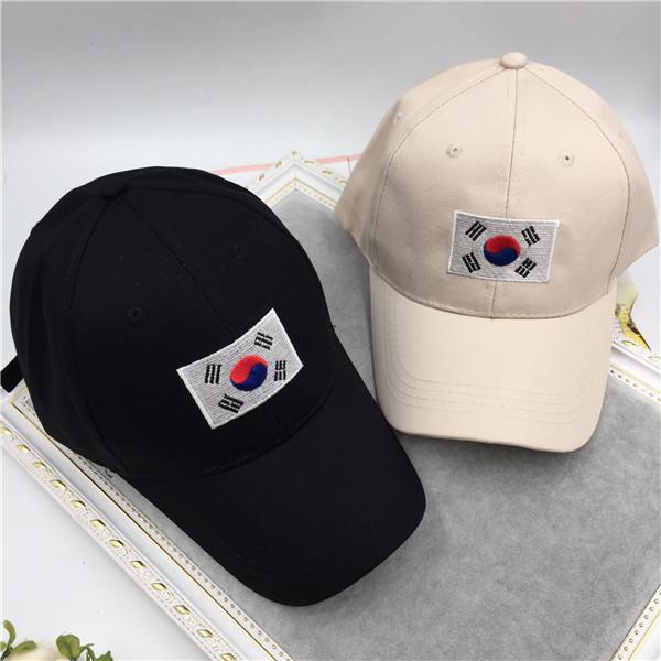 Hot Sale Casquettes 2016 Verão Novo Hip Hop Cap Korea ulzzang harajuku bandeira bordado snapback chapéu para mulheres dos homens de beisebol tampas