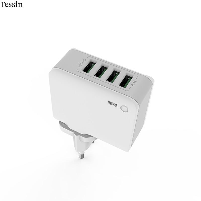 INGMAYA Cargador de viaje USB 4 puertos 22W Alimentación 2.4A Carga - Accesorios y repuestos para celulares