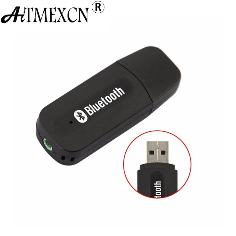 Aitmexcn USB Wireless Bluetooth Music Audio Receiver Dongle Adapter 3.5mm Jack Audio Cable For
