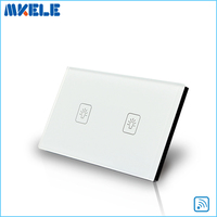 Control Light Remote Touch Wall Switch EU Standard 2 Gang 1 Way Switches Electrical China