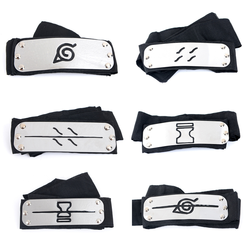 Anime Naruto Cosplay Headband Uzumaki Naruto Kakash Forehead Fashionable Guard Head Band Cosplay Accessories Kids Toy Gifts