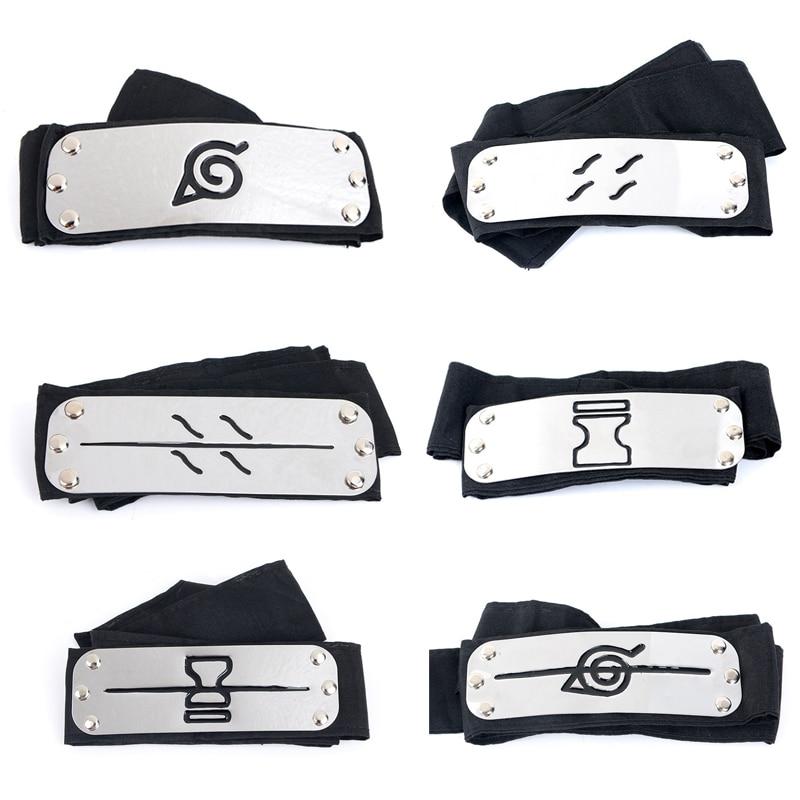 Anime Naruto Cosplay Headband Uzumaki Naruto Kakash Forehead Fashionable Guard Head Band Cosplay Accessories Kids Toy Gifts