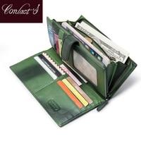 100 Real Genuine Leather Brand Wallets Handmade Sheep Skin Knitting Women Purse Zipper Coin Pocket Purse