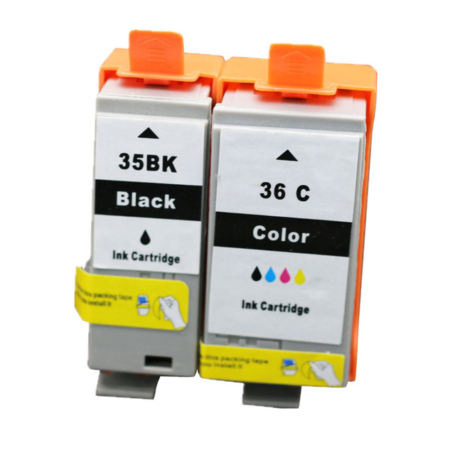 10PK PGI-35 CLI-36 Compatible Inkjet Cartridges for Canon PIXMA IP100B IP100 IP100 with battery Mini 260 320 Cartridge Ink