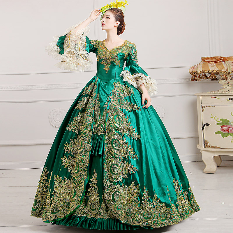 Discount Custom Made Vintage Victorian Medieval Style: Popular Southern Belle Costumes-Buy Cheap Southern Belle