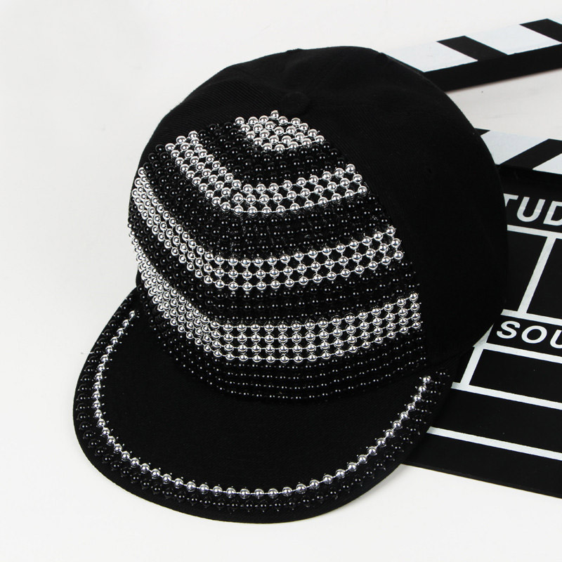 Cool Bigbang Jazz Studded Baseball Hat Hip Hop Gorras Planas Rivet - Apparel Accessories - Photo 3