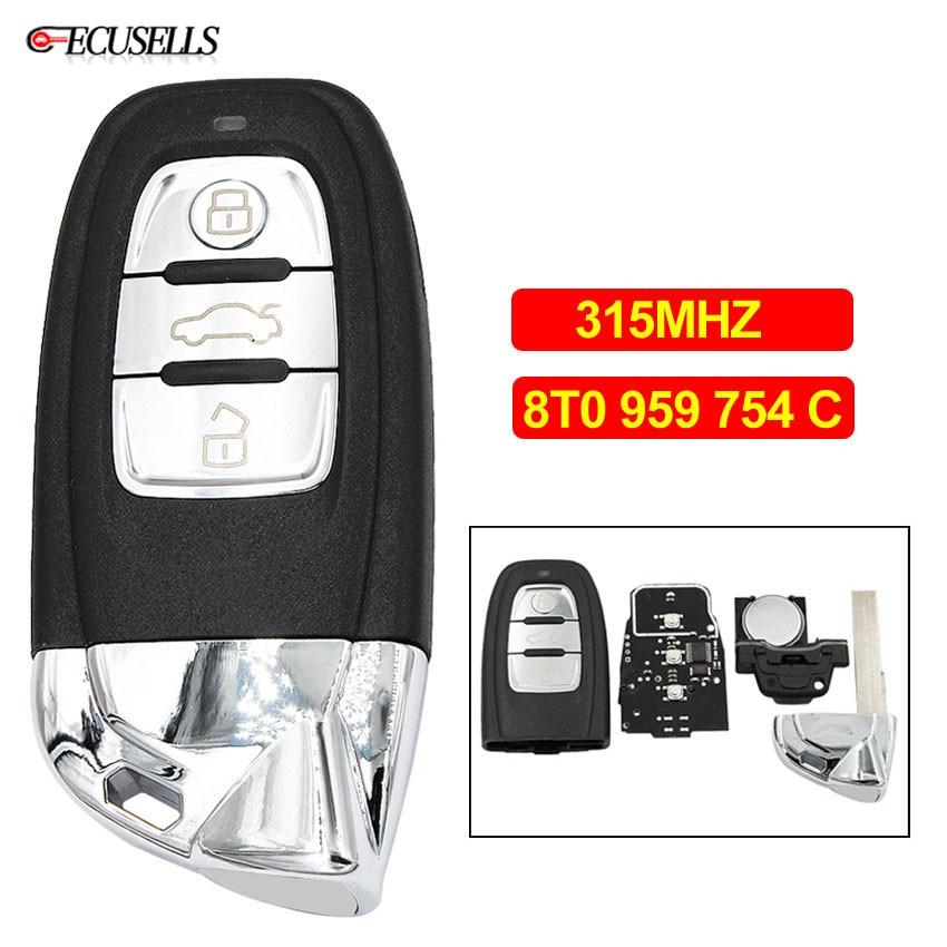 Modified 3 Button Remote Smart Car Key 315MHz 8T0 959 754 C for Lamborghini Style for
