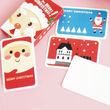 "28 pcs/box "" Christmas is coming "" beautiful creative lomo card greeting/message card postcard Christmas New Year gift card"