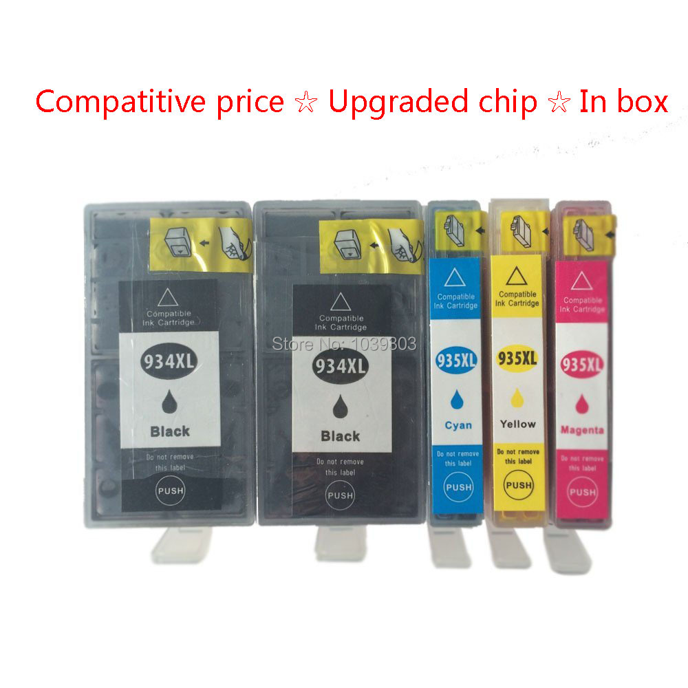 5Paks ink cartridge Compatible for hp 934 935 hp Officejet pro 6230 6830 6835 6812 6815 printer