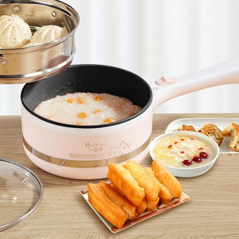 Portable Mini Electric Multicooker Kitchen Noodle Cooker Pot Mini Hot Pot Hotpot Mini Steamer Frying Pan Rice Cooker Porridge