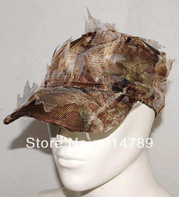 Kopfbedeckungen Für Herren 3d Realtree Camo Jagd Airsoft Blatt Net Ghillie Hut Cap-32548 Bekleidung Zubehör