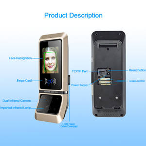 Image 4 - Face Access Control System Face Recognition Door Lock Biometric System USB Time Clock Recorder For Office Employee Equipment
