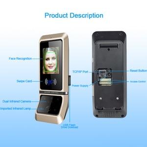 Image 4 - Face sistema de controle acesso reconhecimento rosto fechadura da porta sistema biométrico usb time clock recorder para escritório equipamentos do empregado