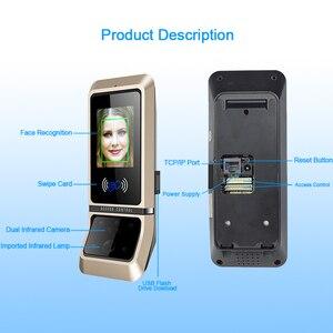 Image 4 - 顔のアクセス制御システム顔認識ドアロックバイオメトリックシステム USB タイムレコーダーレコーダーオフィス従業員機器