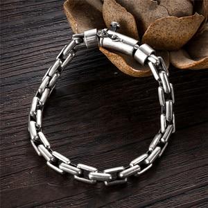 Image 3 - GAGAFEEL 6/8MM Male Bracelet 925 Sterling Silver Jewelry Punk Bangles Bracelets for Men Mens Fashion Jewelry