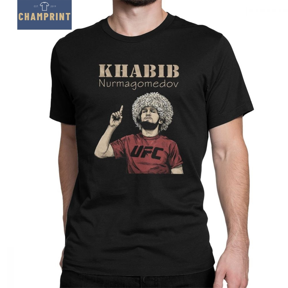 Men Khabib Nurmagomedov Boxing T-Shirt 229 Boxing Leisure Round Neck Short Sleeve Tops 100% Cotton Tees Summer T Shirt
