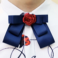 Solid Fashion Bowties2016 High Quality Groom Formal Groom Marriage Mens Bow Tie with Rose Flower