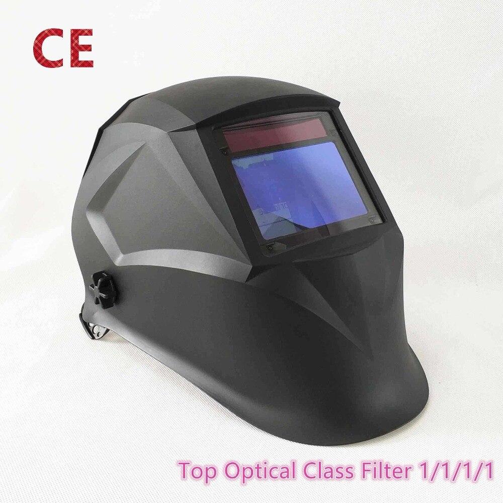 Сварочный шлем 100 * мм 65 мм 1111 4 Датчики шлифовальные DIN 3/4-13 MMA MIG/MAG TIG CE/UL/CSA/AS Cert Солнечная Автоматическая Затемняющая Сварочная маска