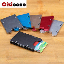 купить New Metal Aluminum Card Holder Fashion Credit Card Holder for Men and Women RFID Metal ID Card Holder Business card case Wallet дешево