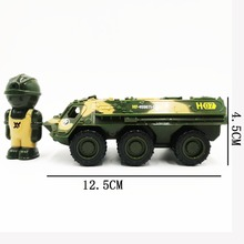 1:52 Zinc Alloy Armored Truck Model Military Toy Car , Simulation Metal Castings Strong Pull Back Force Vehicle,Free Gift Doll ss 008 1 35 israel achzarit heavy armored transporter later model building kit toy